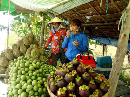 Do nông sản bị thương lái ép giá, nhà vườn đành đem ra ven đường để bán kiếm thêm thu nhập
