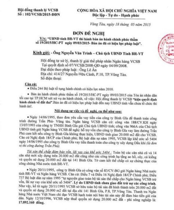 Thắng kiện UBND Bà Rịa - Vũng Tàu, đại gia Lê Ân đi đòi đất