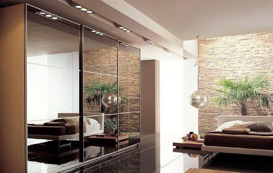 Nội thất sang trọng và hiện đại nhờ những chiếc gương