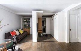 Căn hộ được mở rộng tối đa nhờ thiết kế tường trượt