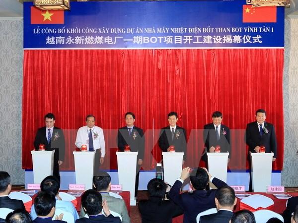 Hơn 1,75 tỷ USD xây dựng Dự án nhiệt điện BOT Vĩnh Tân 1