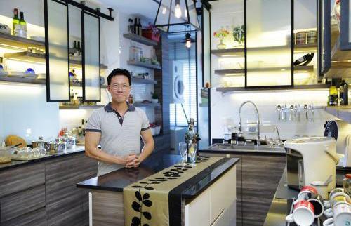 Căn hộ được thiết kế giống hệt quán cà phê