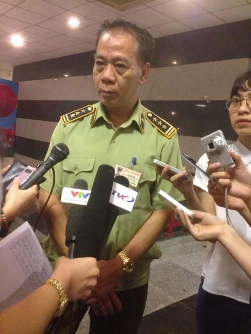 Ông Nguyễn Công San - Phó Chi cục trưởng Chi cục Quản lý thị trường Hà Nội
