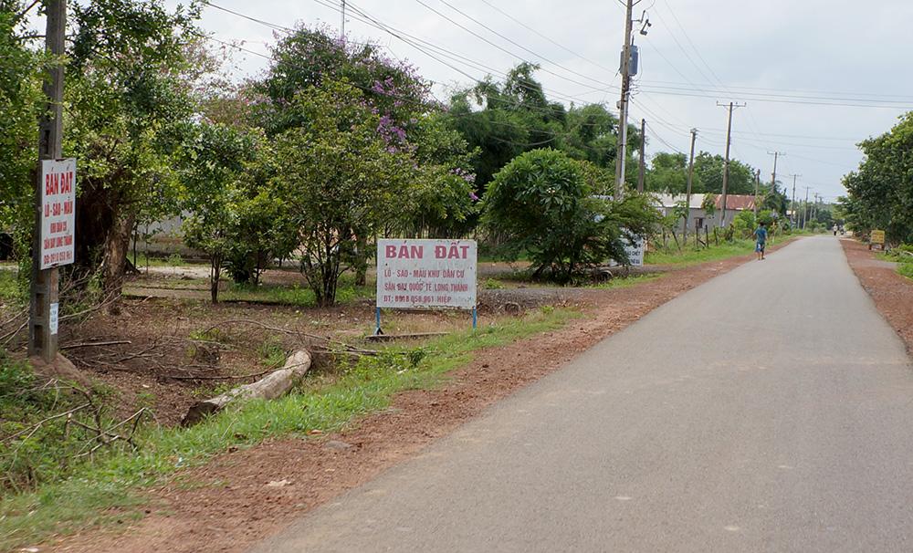 Đất quanh dự án sân bay Long Thanh được rao bán rầm rộ