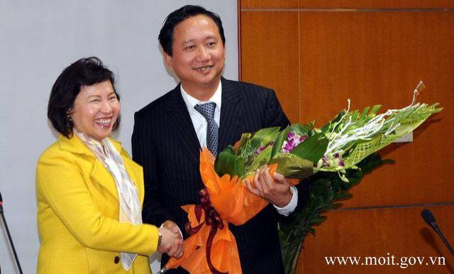 Bà Thoa luôn được lựa chọn là người trao quyết định đề bạt cho Trịnh Xuân Thanh ở các chức vụ thăng tiến khác nhau tại Bộ Công Thương