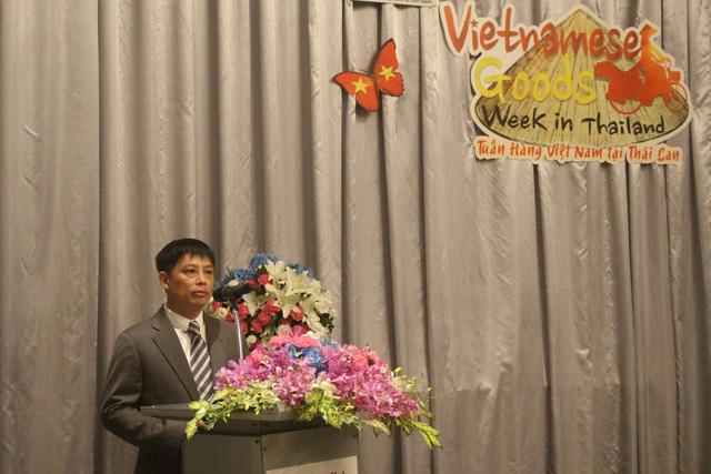 Ông Đặng Hoàng Hải, Vụ trưởng Vụ Thị trường châu Âu, Bộ Công Thương phát biểu tại chương trình kết nối doanh nghiệp giữa các nhà sản xuất Việt và Central Group. (Ảnh: Hồng Vân)