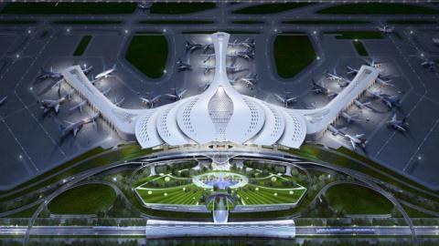 Phối cảnh thiết kế sân bay Long Thành
