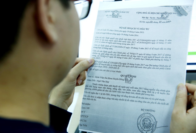 Văn bản có 3 dấu quốc huy và chữ ký, dấu của Bộ KH&ĐT