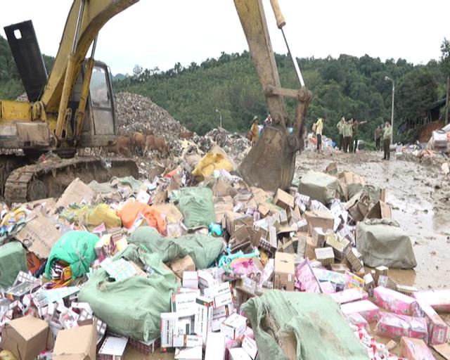 Lạng Sơn: Tiêu hủy hàng lậu, hàng cấm trị giá gần 5 tỷ đồng