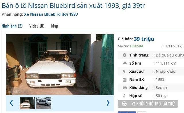 Xe ô tô Nissan cũ 1993 màu trắng, máy chạy êm, máy lạnh hoạt động tốt, mới đăng kiểm lại, chạy đường xa tốt được rao bán giá 39 triệu có thương lượng.