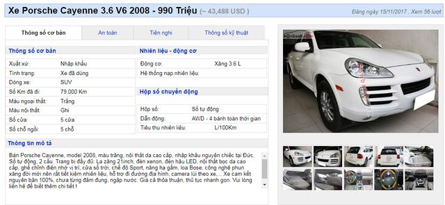 Chiếc xế sang Porsche được giao bán dưới 1 tỷ đồng
