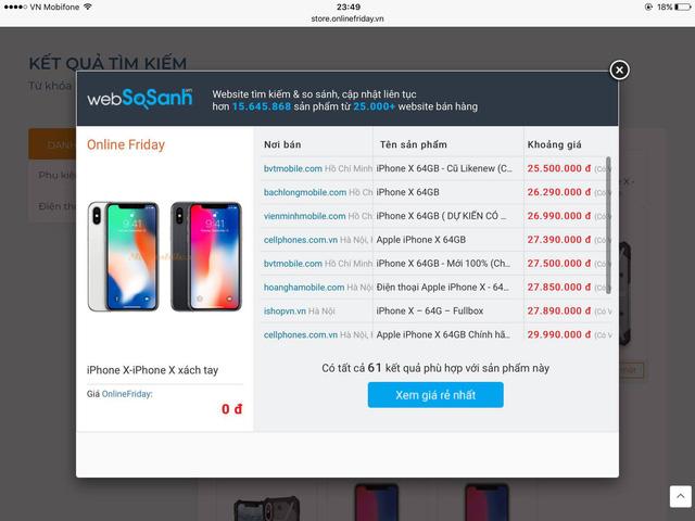Sẽ có những khách hàng may mắc trúng Iphone X