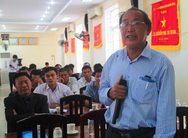 Ông Hà Ngọc Tân, Phó Chủ tịch UBND huyện Phù Mỹ (Bình Định) khuyên ngư dân yên tâm nếu phải đưa vụ việc ra tòa kinh tế.