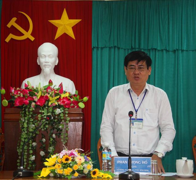 Ông Phan Trọng Hổ, Giám đốc Sở NN&PTNT Bình Định gia hạn không quá 3 lần họp bàn, nếu việc đền bù vẫn chưa được giải quyết thì tranh chấp nên đưa ra tòa kinh tế.