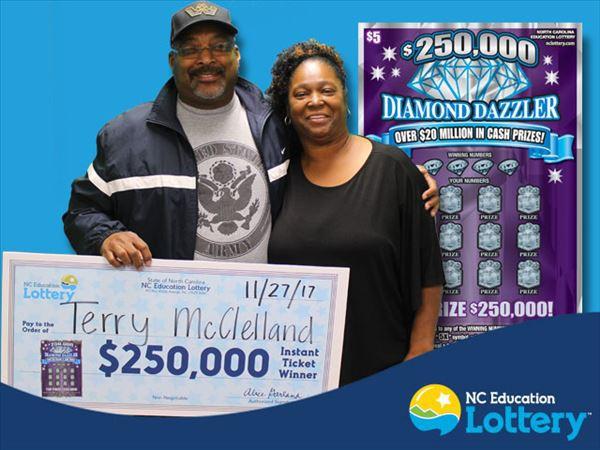 Vợ chồng ông McClelland dự định mở một trung tâm tư vấn phi lợi nhuận chống lạm dụng ma túy bằng số tiền trúng số 250.000 USD của mình. (Nguồn: N.C. Education Lottery)
