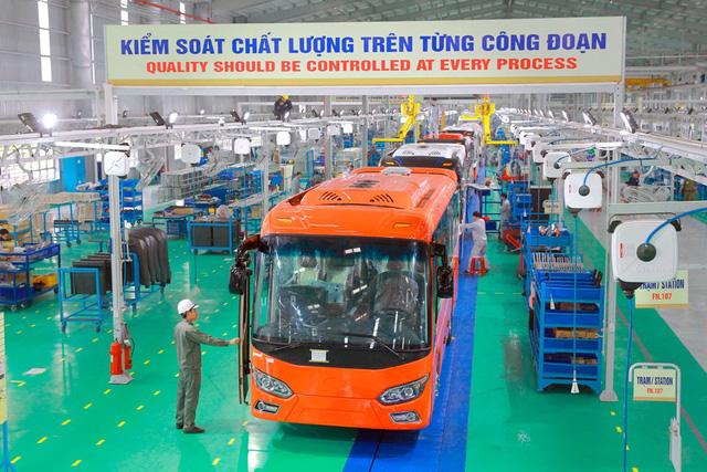 Dây chuyền sản xuất xe buýt Thaco