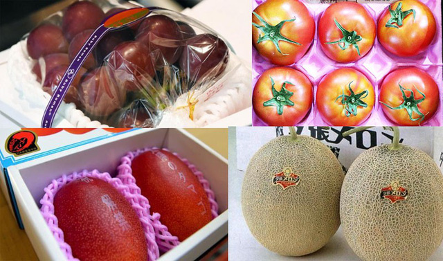 Các loại trái cây có giá đắt đỏ nhất thế giới được bày bán khá nhiều tại Việt Nam