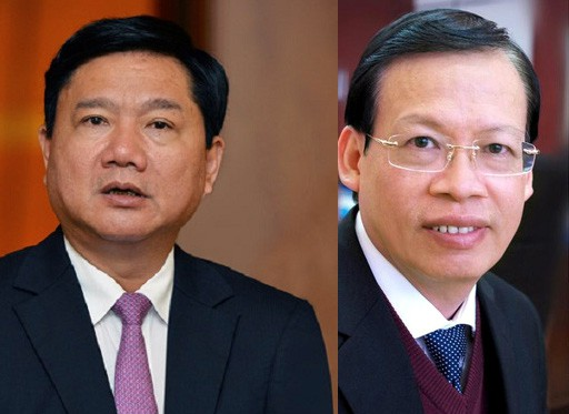 Ông Đinh La Thăng (trái) và ông Phùng Đình Thực