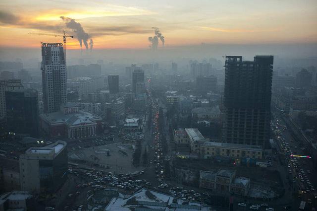 Thành phố Ô Lan Ba Thác nhìn từ trên cao