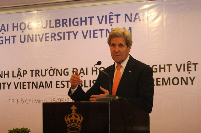 Cựu Ngoại trưởng Mỹ John Kerry sẽ sang Việt Nam chia sẻ về vấn đề phát triển kinh tế với các học giả, chuyên gia Việt Nam và quốc tế.