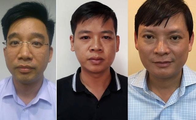 Từ trái qua phải: Bùi Mạnh Hiển, Nguyễn Đức Hưng, Nguyễn Anh Minh.