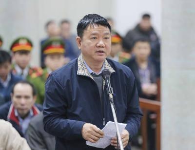Sáng 17/1, bị cáo Đinh La Thăng được nói lời nói sau cùng trước khi HĐXX vào nghị án. Ảnh: TTXVN