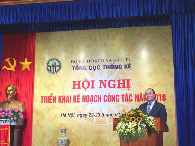 Thủ tướng tham dự và phát biểu tại Hội nghị ngành thống kê năm 2018