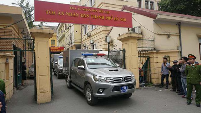 Bị cáo Đinh La Thăng tại buổi tuyên án sáng ngày 22/1