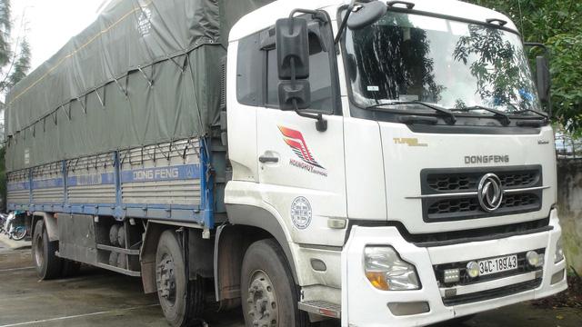 Xe tải đã bị lực lượng chức năng tạm giữ. (Ảnh: QLTT)