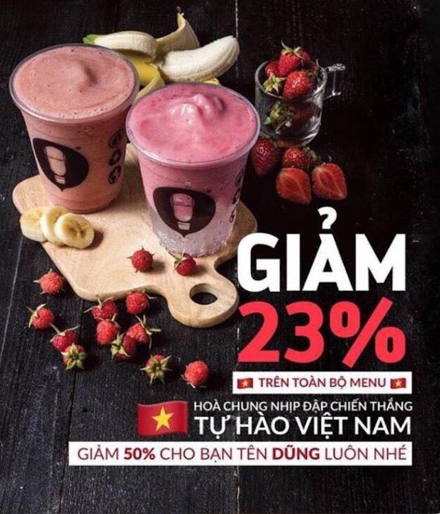 Một hệ thống cà phê nổi tiếng tại TPHCM cũng giảm giá 23%