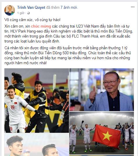 Chiến thắng quật khởi trước U23 Qatar, U23 Việt Nam nhận