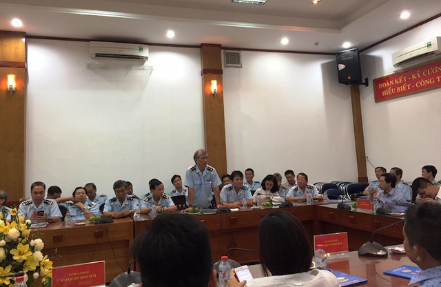 Lực lượng Hải quan TP HCM tiếp xúc với các cơ quan báo chí