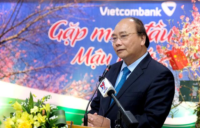 Thủ tướng yêu cầu Vietcombank xác định tầm nhìn là ngân hàng tầm cỡ khu vực ở châu Á. Ảnh: VGP/Quang Hiếu