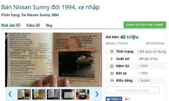 Ô tô cũ giá chỉ vài chục triệu: Cẩn trọng kẻo mua phải taxi