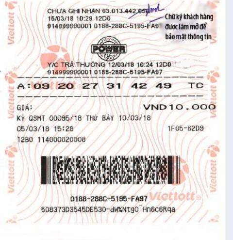 Tấm vé số trúng hơn 70 tỷ đồng của ông C.