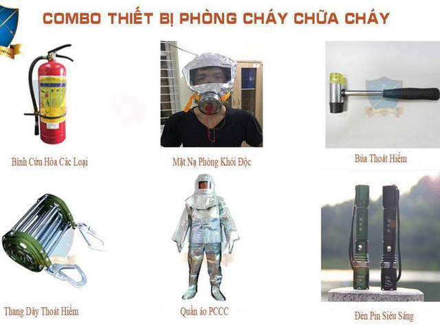 Thị trường các thiết bị thoát hiểm và PCCC đa phần đều là hàng Trung Quốc