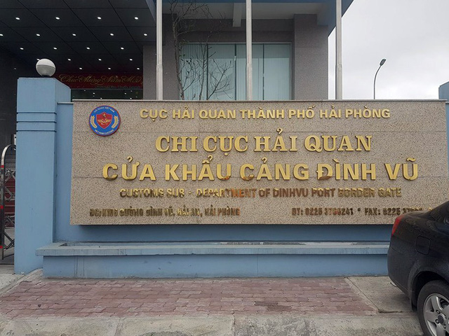 Chi cục Hải quan Đình Vũ.