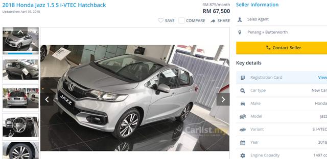 Giá các loại xe Jazz bán tại Malaysia