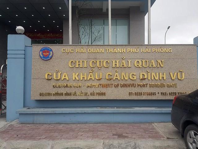 Hải quan cửa khẩu Đình Vũ, nơi xảy ra sự việc/ Ảnh: Lao động
