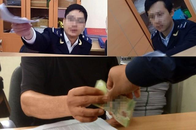 Các cán bộ công chức hải quan nhận tiền lót tay của doanh nghiệp để giải quyết vụ việc nhanh chóng