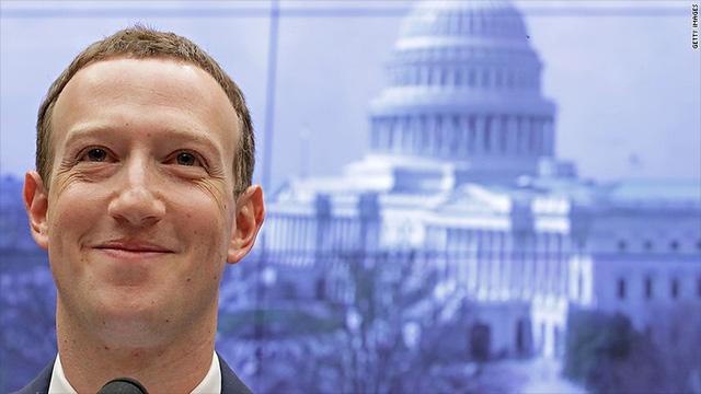 Sau 2 ngày trả lời chất vấn, Facebook tăng gần 23 tỷ USD giá trị, Mark Zuckerberg kiếm thêm 3 tỷ USD.