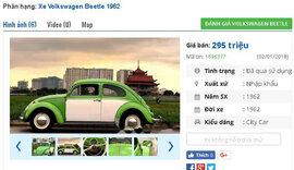 Những chiếc ô tô Volkswagen cũ đang rao bán tầm giá 200 triệu đồng tại Việt Nam