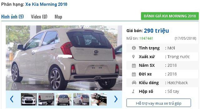 Hai phiên bản của Kia Morning 2018 đang có giá bán niêm yết dưới 300 triệu
