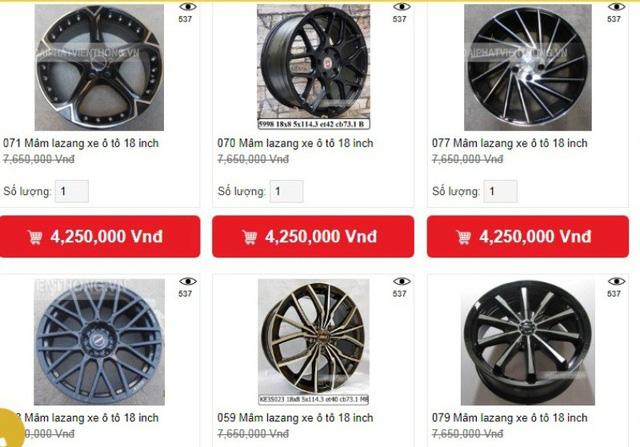 """""""Đồ chơi"""" xe bình dân có xuất xứ từ Thái Lan và Trung Quốc được niêm yết giá tại nhiều cửa hàng"""