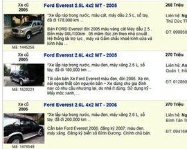 Những chiếc SUV 7 chỗ cũ có giá trên dưới 500 triệu đồng