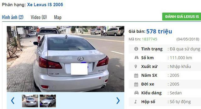 3 chiếc ô tô Lexus cũ số tự động này đang rao bán tầm giá 500 triệu đồng tại Việt Nam