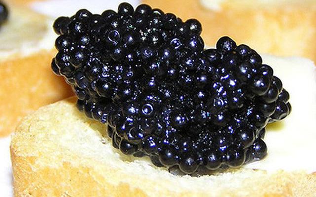 Trứng cá tầm được xếp là 1 trong 10 món ăn xa xỉ nhất hành tinh
