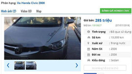 Chiếc ô tô Honda cũ này đang rao bán nhiều nhất ở tầm giá 200 triệu đồng tại Việt Nam