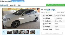 2 mẫu ô tô Hyundai cũ này được rao bán nhiều nhất tầm giá 200 triệu đồng tại Việt Nam