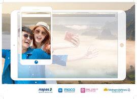 Vietnam Airlines - Napas liên thông dịch vụ thanh toán vé máy bay bằng mã QR của MOMO và MOCA